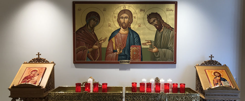 Narthex and icon of Christ