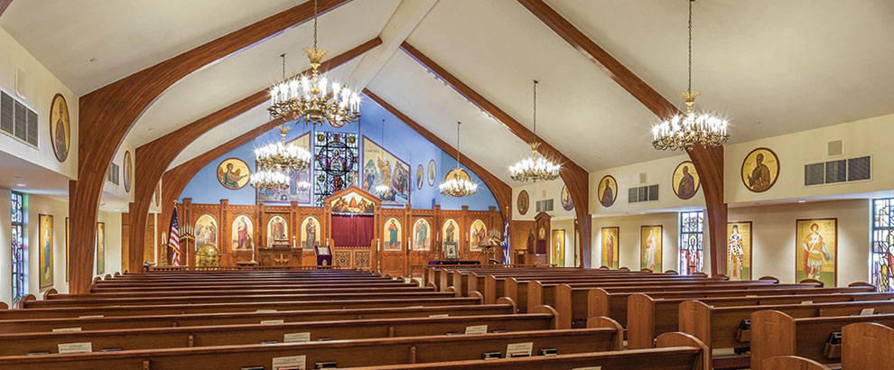 Inside view of St. Katherine Greek Orthodox Church